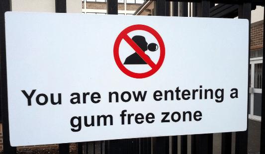 retirer chewing gum